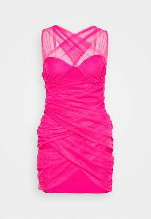 BANDAGE HALTER MINI DRESS - Robe de soirée - pink