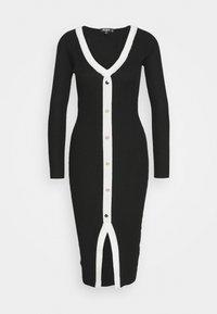Missguided Petite - Vestido de punto - black - 0