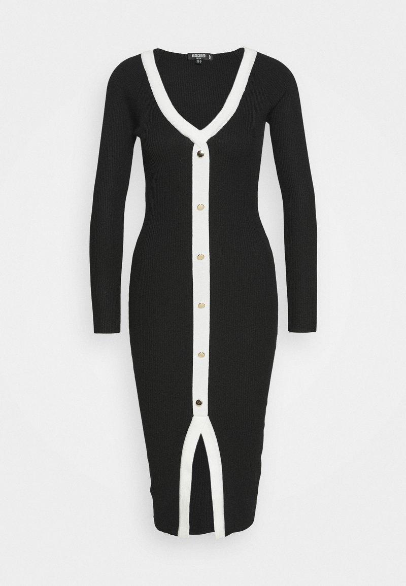 Missguided Petite - Vestido de punto - black