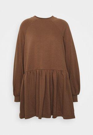 SMOCK DRESS - Vestido informal - tan