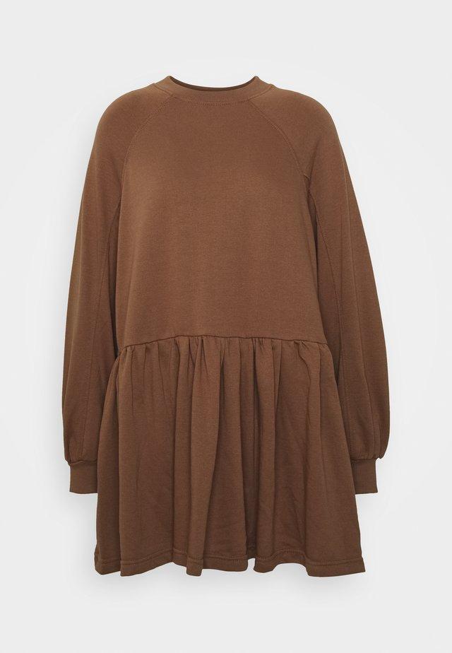 SMOCK DRESS - Day dress - tan