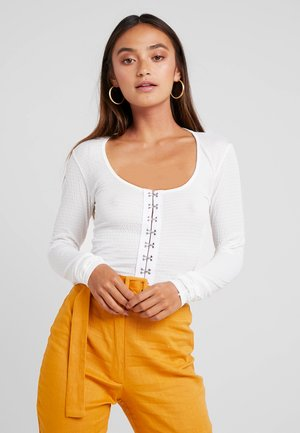 HOOK AND EYE CROP 2 PACK - Long sleeved top - black and white