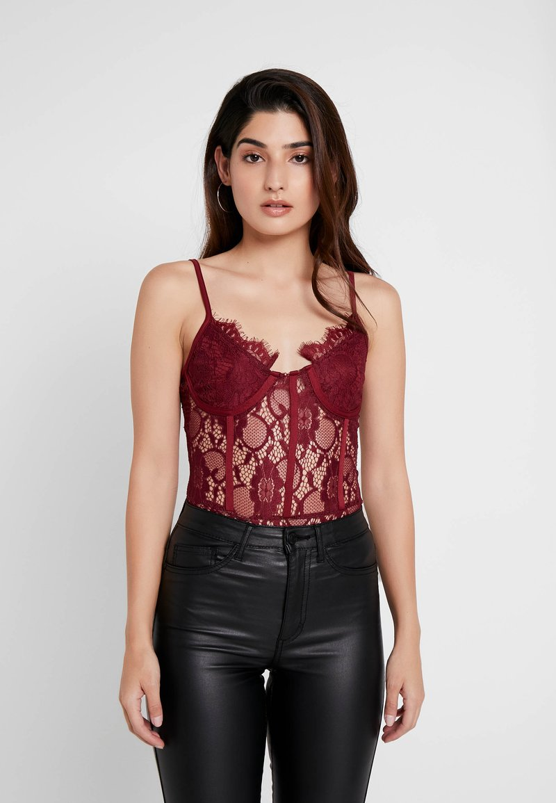 Missguided Petite - STRAPPY - Top - red