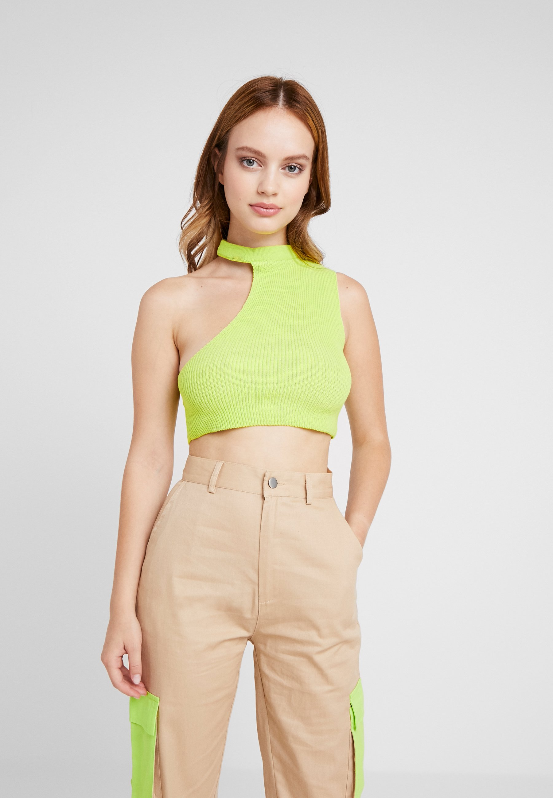 Crop lime PackDébardeur Petite Cut Out Black Neck 2 Missguided thdQCrs