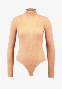 Missguided Petite - ROLL NECK BODY - Top sdlouhým rukávem - camel - 4