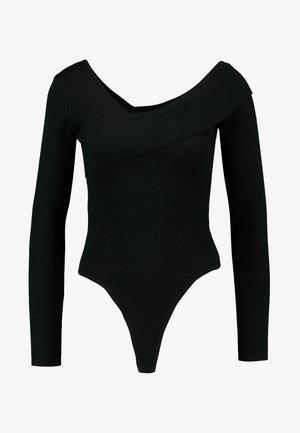 PETITEONE SHOULDER BARDOT BODYSUIT - Strickpullover - black