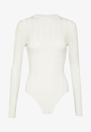 EXTREME CREW NECK BODYSUIT - Stickad tröja - white