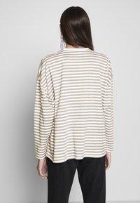 Missguided Petite - STRIPE DROP SHOULDER LONG SLEEVE - T-shirt à manches longues - green/white - 2