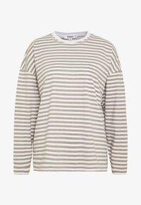 Missguided Petite - STRIPE DROP SHOULDER LONG SLEEVE - T-shirt à manches longues - green/white - 3
