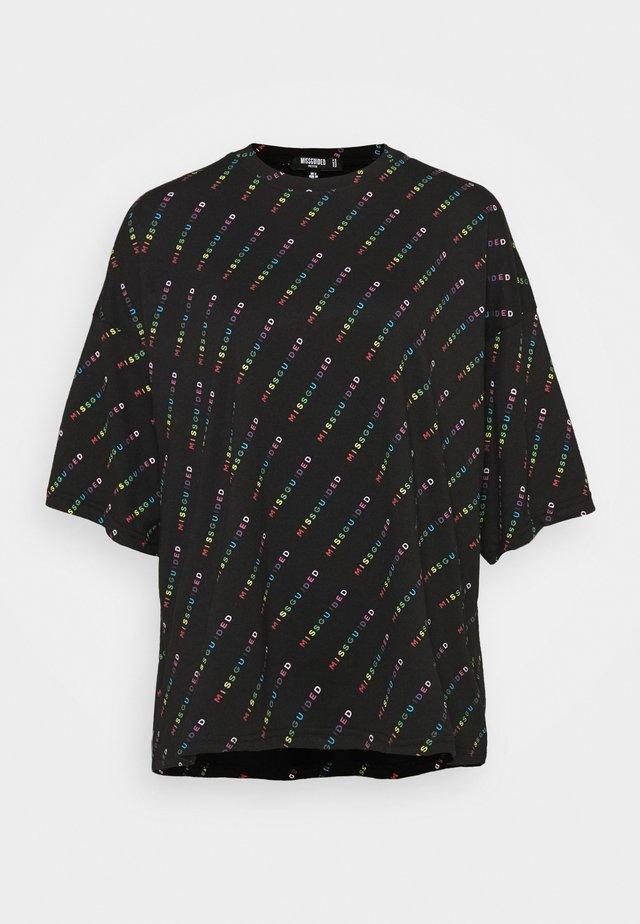PRIDE - T-shirt z nadrukiem - black