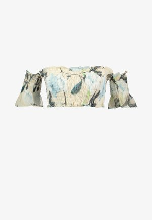 FLORAL SHIRRED BARDOT - Bluse - peach