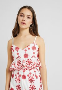 Missguided Petite - PEPLUM CAMI CROP - Top - white - 0