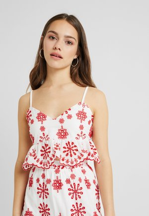 PEPLUM CAMI CROP - Top - white