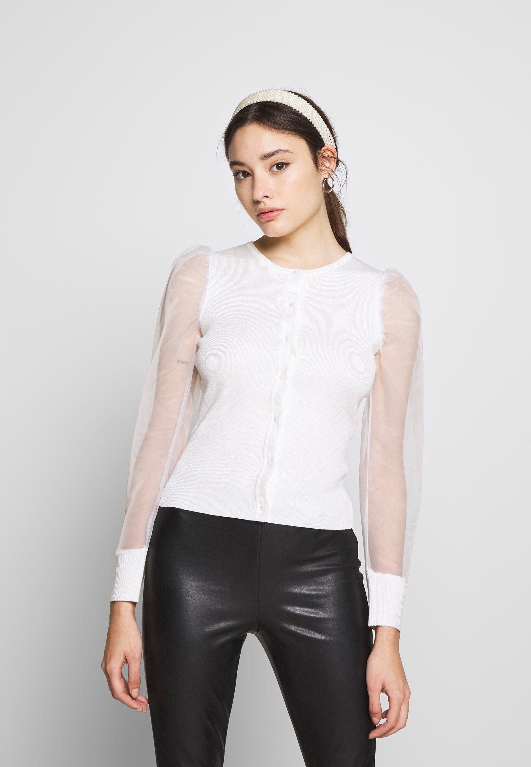Missguided Petite BUTTON UP  - Bluser - white