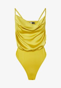 Missguided Petite - COWL NECK BODYSUIT - Topper - yellow - 3