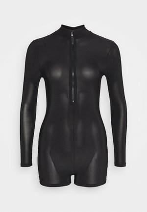 ZIP FRONT UNITARD - Jumpsuit - black