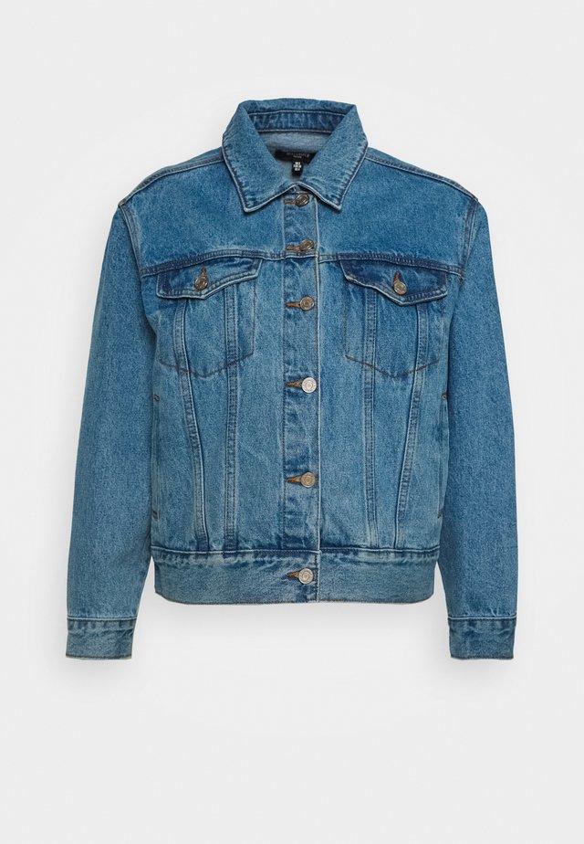 OVERSIZED - Kurtka jeansowa - stonewash