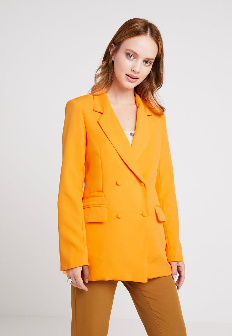 Missguided Petite - BUTTON DETAIL DOUBLE BREASTED - Blazer - orange