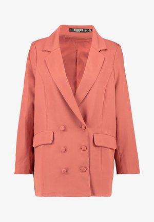 GRANDAD OVERSIZED - Krátký kabát - rust