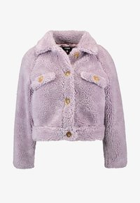 Missguided Petite - BORG CONTRAST BUTTON TRUCKER - Winterjas - lilac - 3