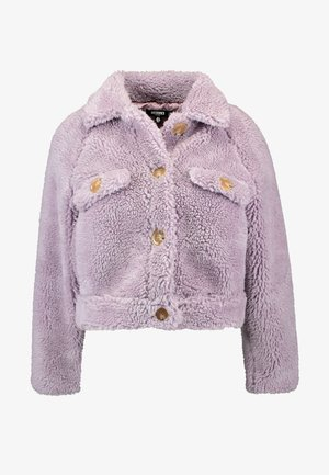 BORG CONTRAST BUTTON TRUCKER - Winter jacket - lilac