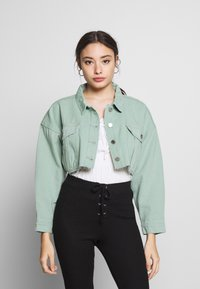 Missguided Petite - CROPPED RAW JACKET - Denim jacket - mint - 0