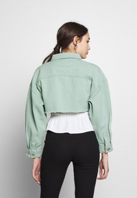 Missguided Petite - CROPPED RAW JACKET - Denim jacket - mint - 2
