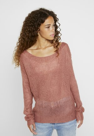 TWIST BACK JUMPER - Strikpullover /Striktrøjer - rose