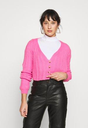 CROPPED - Kardigan - pink