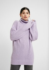 Missguided Petite - ROLLNECK OVERSIZED JUMPER - Trui - lilac - 0