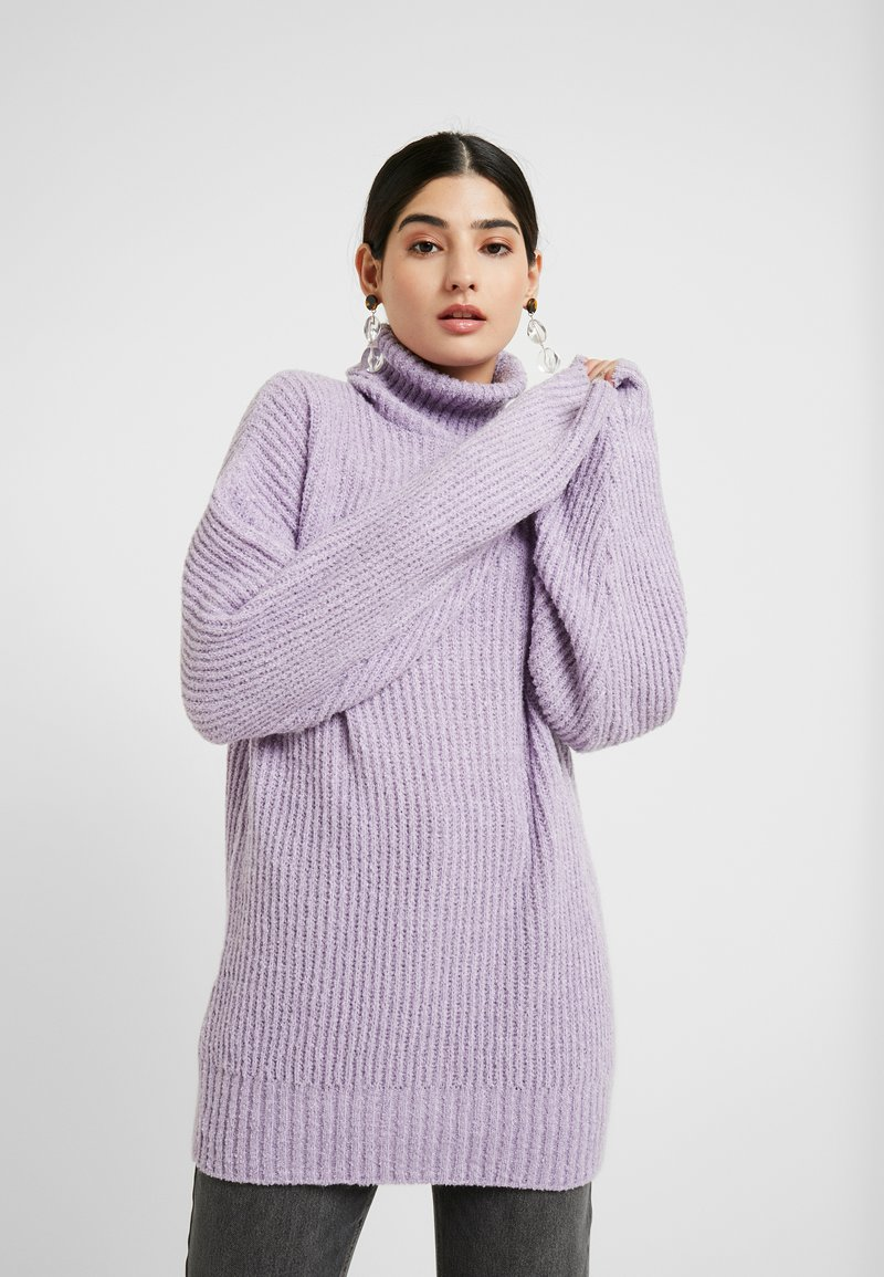 Missguided Petite - ROLLNECK OVERSIZED JUMPER - Trui - lilac
