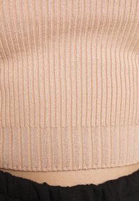 Missguided Petite - BASIC HIGH NECK CROP  - Strickpullover - sand - 4