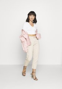Missguided Petite - BUTTON UP TOP - Kardigan - cream - 1