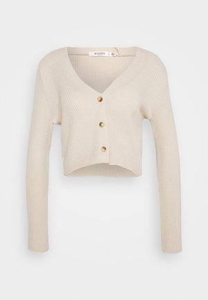 SKINNY CROPPED CARDIGAN - Vest - beige