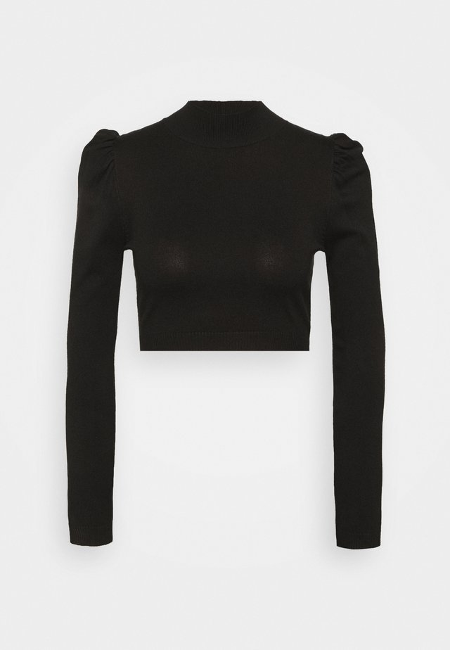 PUFF SLEEVE - Sweter - black