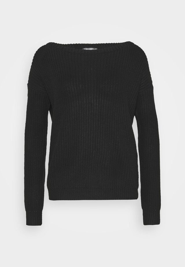 OPHELITA OFF SHOULDER JUMPER - Jersey de punto - black