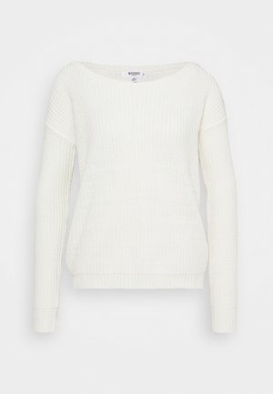 OPHELITA OFF SHOULDER JUMPER - Jersey de punto - off white