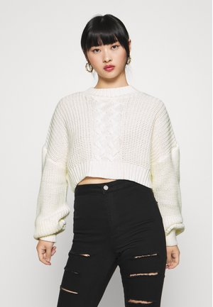 CROPPED - Pullover - off white