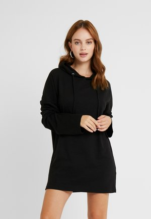 SLIM FIT HOODIE DRESS - Kjole - black