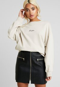 Missguided Petite - DREAMER EMBROIDERED SLOGAN - Sweater - nude - 3