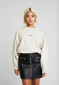 Missguided Petite - DREAMER EMBROIDERED SLOGAN - Sweater - nude - 0