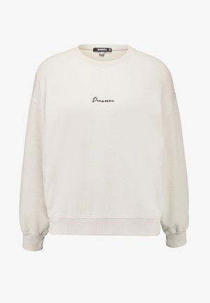DREAMER EMBROIDERED SLOGAN - Sweatshirts - nude