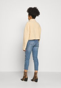 Missguided Petite - BORG POPPER FRONT HIGH NECK - Sweatshirt - sand - 2