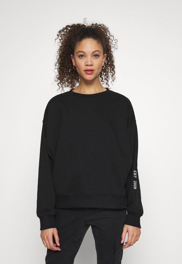 EMBROIDERED - Sweatshirt - black