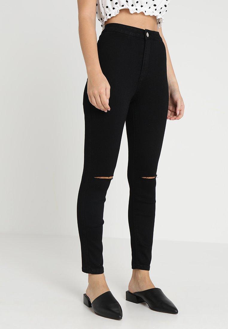 Missguided Petite - VICE SLASH KNEE - Jeans Skinny Fit - black
