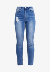 Missguided Petite - SINNER CLEAN DISTRESSED - Jeansy Skinny Fit - blue - 4