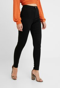 Missguided Petite - VICE HIGH WAISTED - Jeans Skinny - black - 0