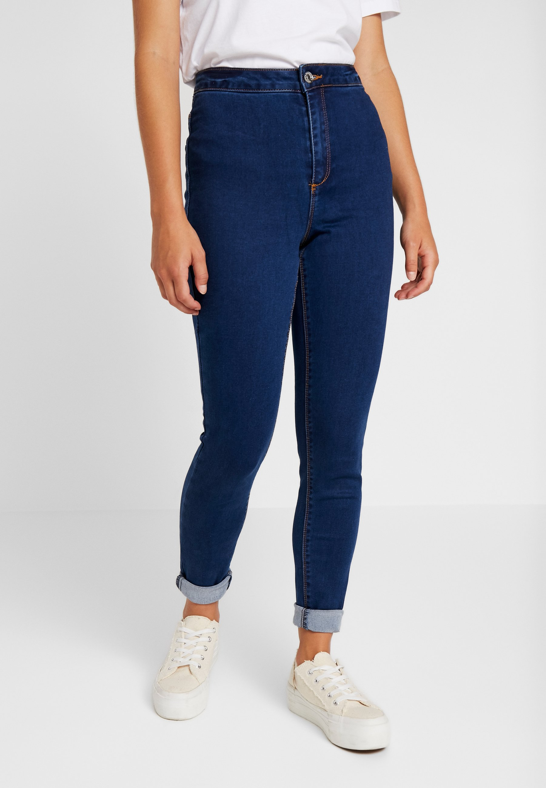 Petite Blue Dark HighwaistedJeans Missguided Vice Skinny 6gI7Ybfyv