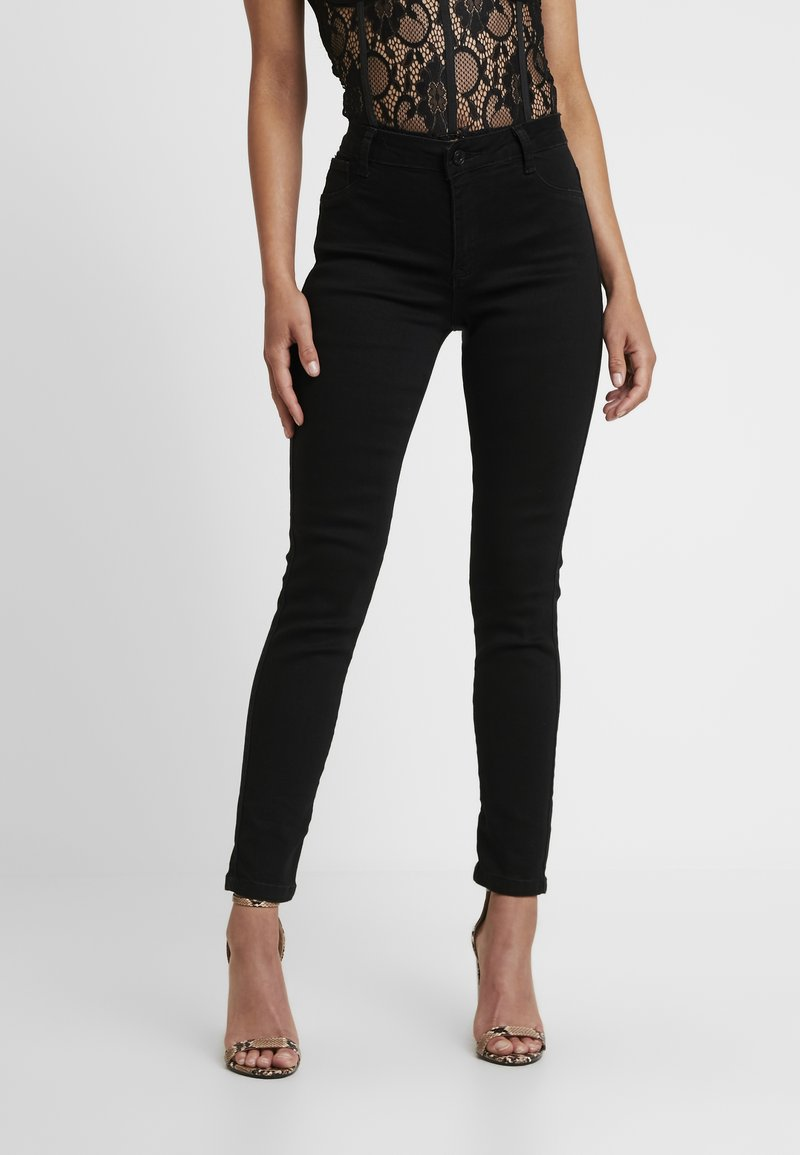 Missguided Petite - ANARCHY MID RISE - Jeans Skinny Fit - black