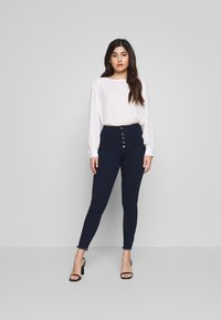 Missguided Petite - VICE BUTTON UP JEAN - Jeans Skinny Fit - blue - 1